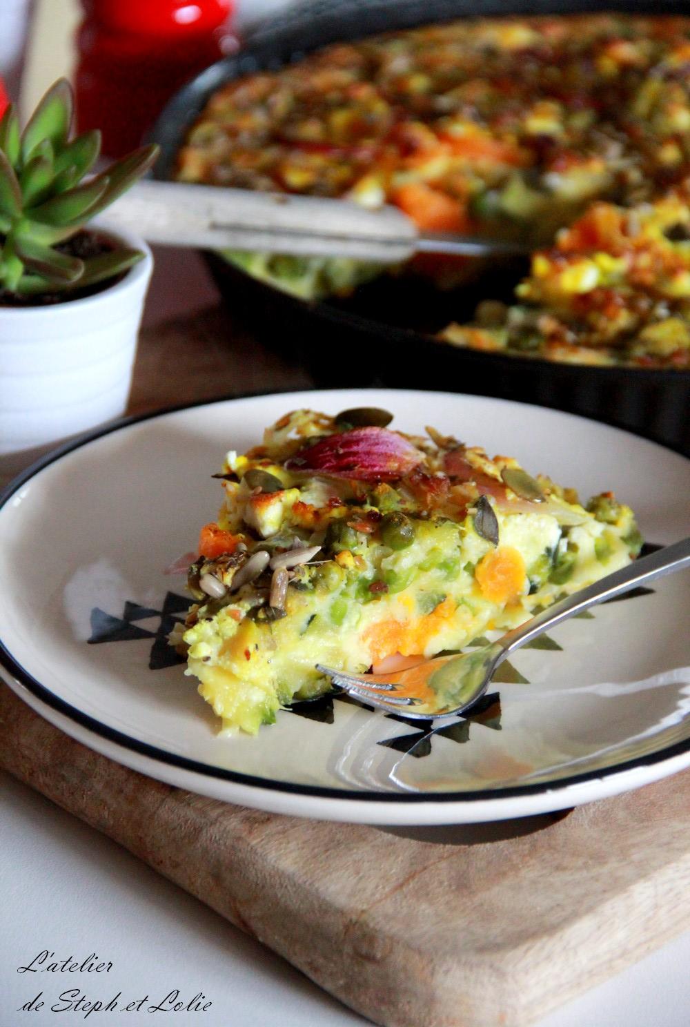 quiche sans pâte légumes feta1