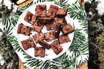 brownie, chocolat