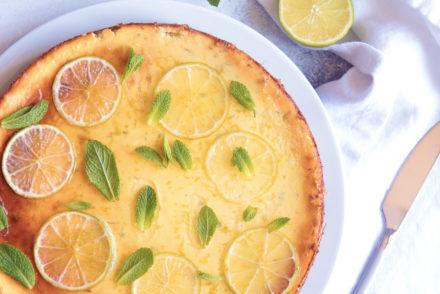 Cheesecake façon mojito aux citrons vert et menthe photo et recette l'atelier de Steph et Lolie