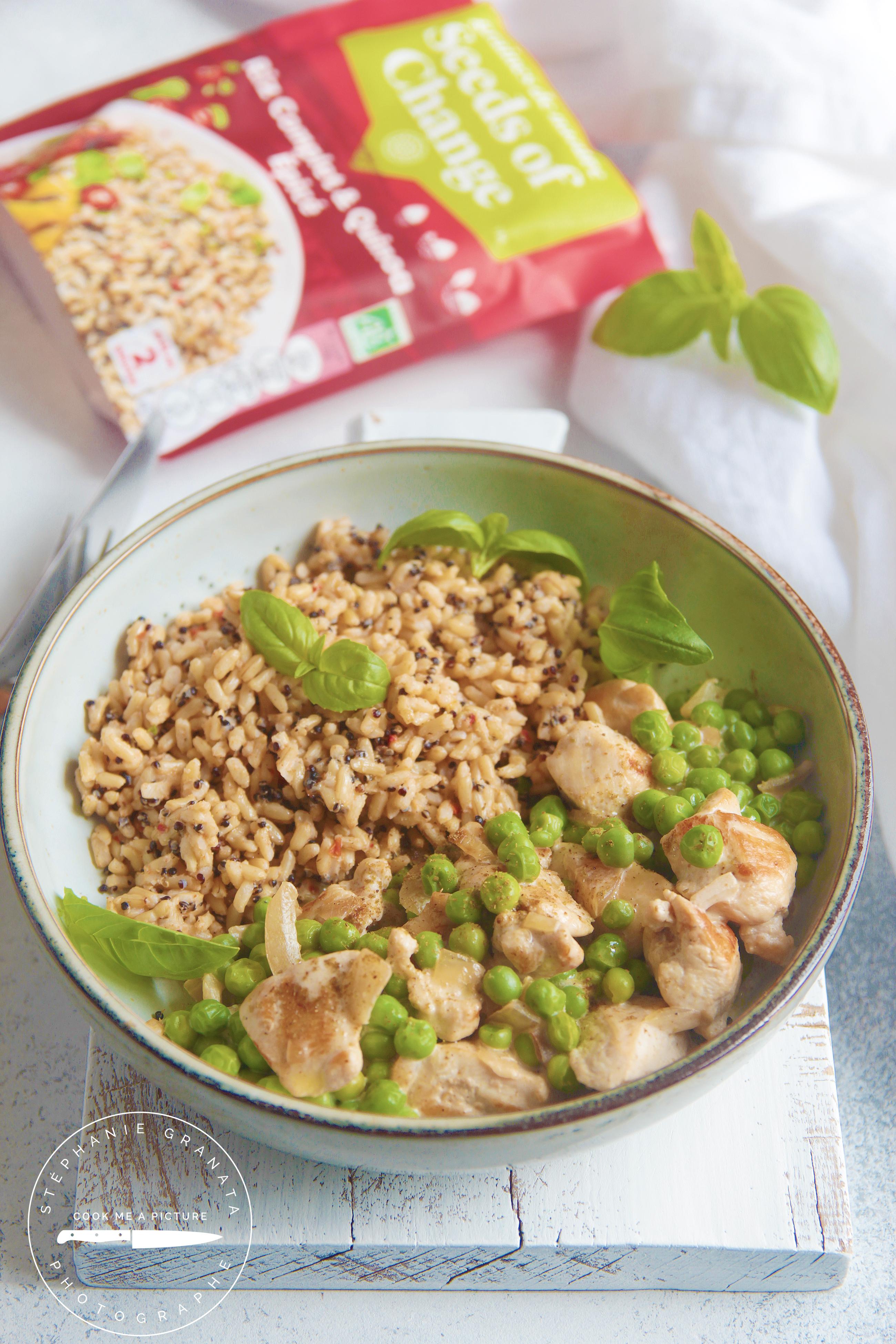 riz, poulet, quinoa, photo et recette l'atelier de Steph et lolie