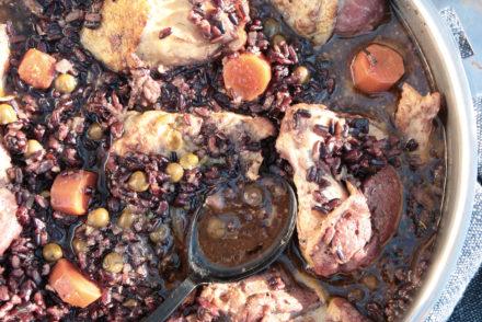 poulet, riz, moutarde, photo et recette l'atelier de Steph et lolie